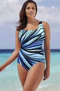 Longitude Blue Anchor X-Back Swimsuit