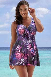 Lotus Tie-Front Swimdress