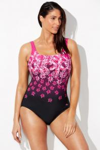 Chlorine Resistant Pink Floral One Piece Swimsuit