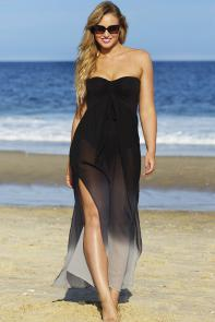 Strapless Dress Swimsuit Cover Up