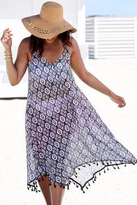 Sheer Boho Dress Swimsuit Cover Up