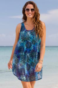 Quincy Nordic Blue High Low Tunic