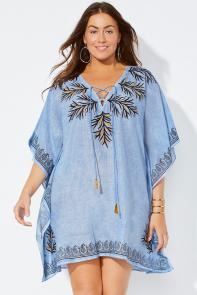 Beach Cover Up Tunic with Tassels
