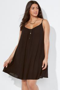 Strappy Back Swimsuit Cover Up Dress
