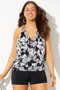 Underwire Blouson Tankini with Boy Short