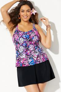 Flared Tankini with Skirt