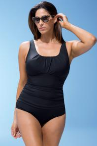 Black Pleated Tank 26-34 Swimsuit
