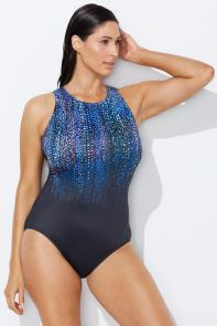 Chlorine Resistant Gemfall High Neck Swimsuit