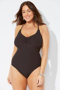Ribbed One Piece Swimsuit